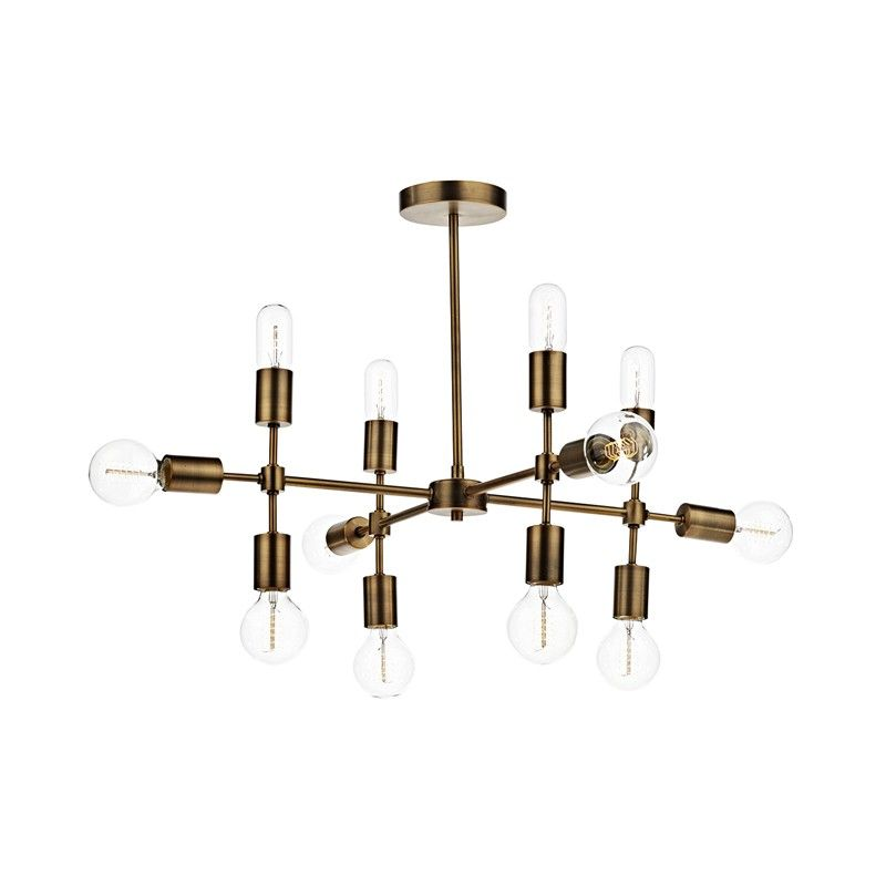 Dar Code 12 Arm Semi Flush Ceiling Light Ceiling Lights Contemporary Ceiling Light Semi Flush Ceiling Lights