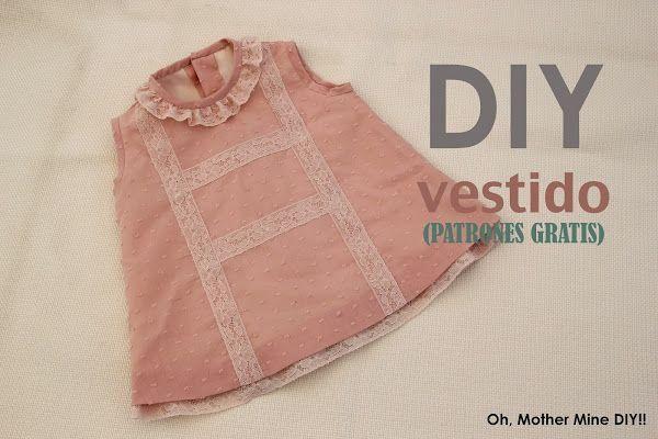 Todo lo que necesitas conocer para elaborar un delicado vestido para niña, con forro incluido.