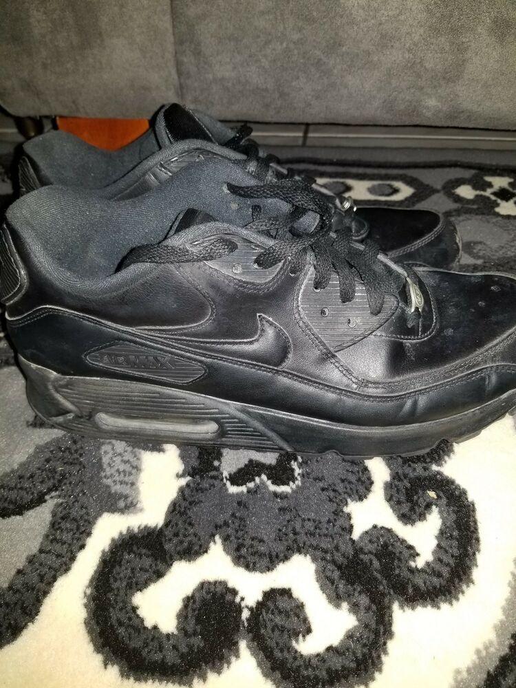 NIKE AIR MAX 90 ESSENTIAL MEN SIZE 10 TRIPLE BLACK   Nike ...
