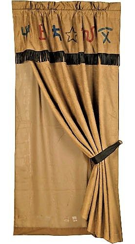 Suede Curtain Panel Ranch Brands Curtain Valance W Fringe