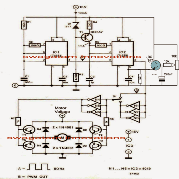 The Post Explains A Simple Treadmill Motor Speed Controller Circuit Which Has Zero To Maximum Speed Co Electronic Circuit Projects Circuit Projects Motor Speed