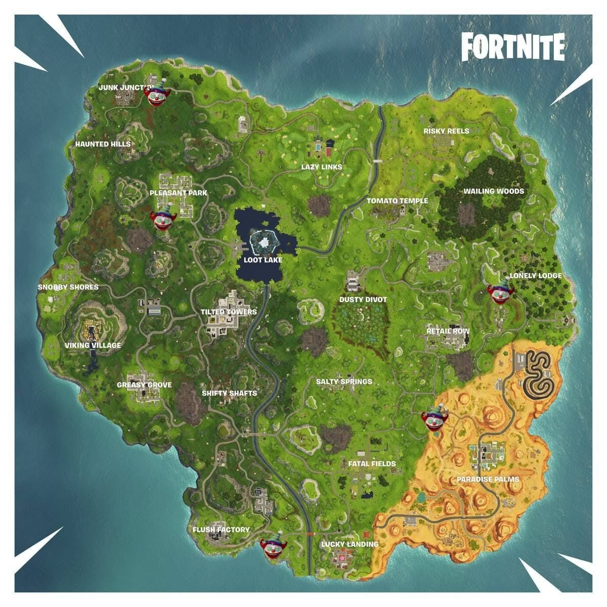 Fortnite Carnival Clown Board Locations And Week 9 Challenge Guide