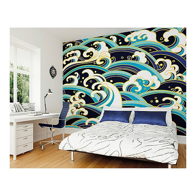 Japanese Waves 9Foot 10Inch x 8Foot 1Inch Wall Mural