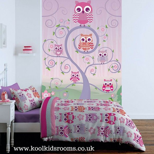 Owls Wallpaper Mural By Catherine Lansfield