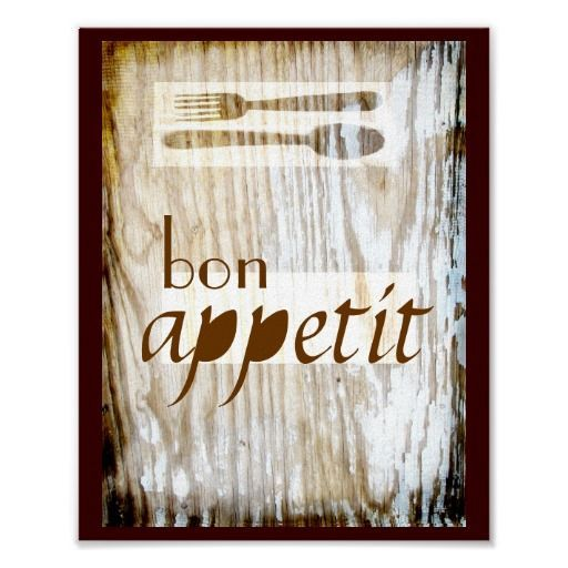 Photo of kitchen poster quotation bon appetit rustic style #decor #kitchen #posters #post…