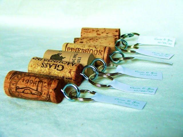 Cork keychain/name holders!