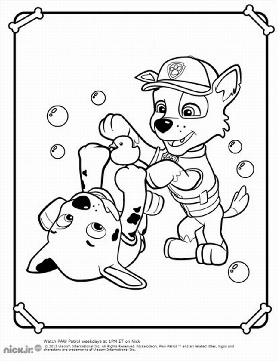 Coloring Pages Paw Patrol Paw Patrol Coloring Pages Patrulha