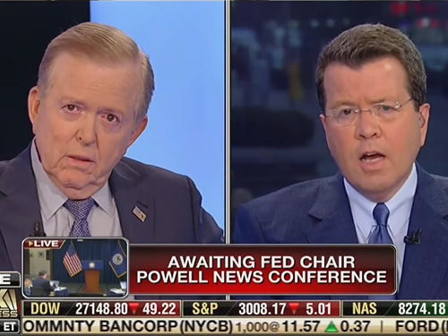 Fox Business Network Anchors Neil Cavuto And Lou Dobbs Engaged In