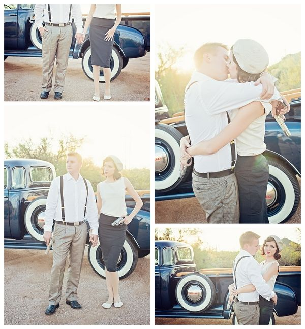 Bonnie And Clyde Theme Engagement By Le Boudoir Studio
