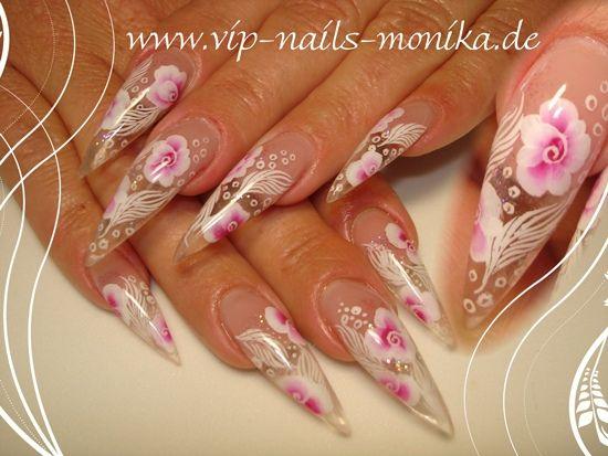 one-stroke painted by vipnailsmonika - Nail Art Gallery nailartgallery.nailsmag.com by Nails Magazine www.nailsmag.com #nailart
