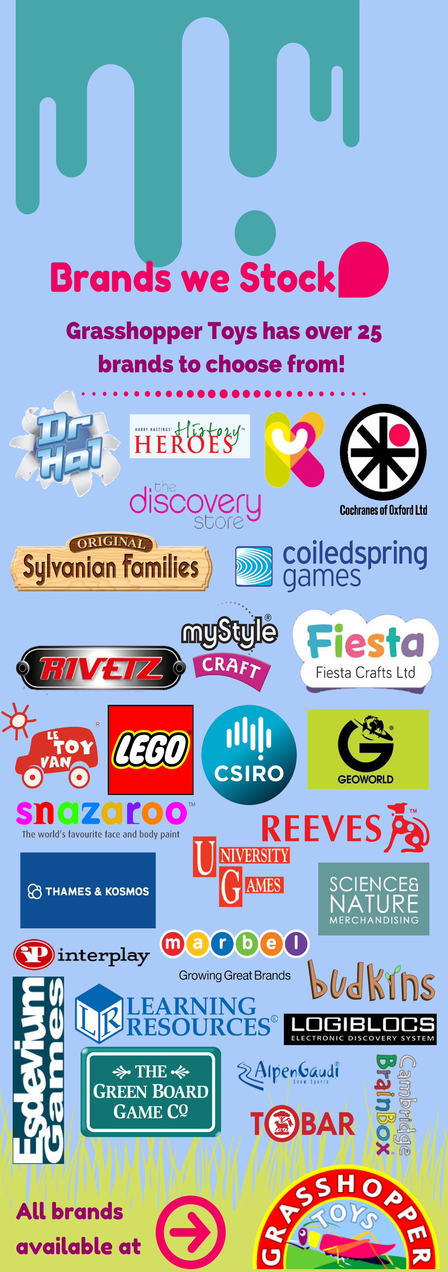 #Infographic - The Brands Grasshopper Toys stock!