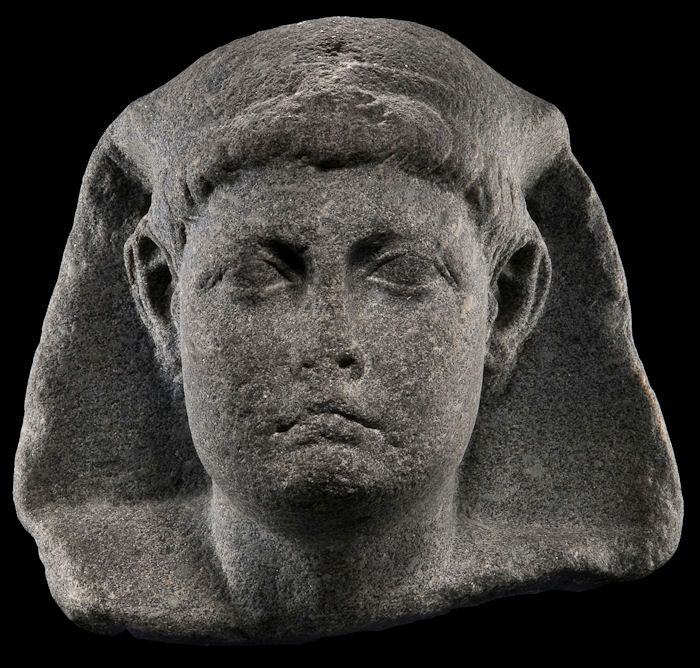This Granite Head Is Attributed To Caesarion Ptolemaios Xv Son Of