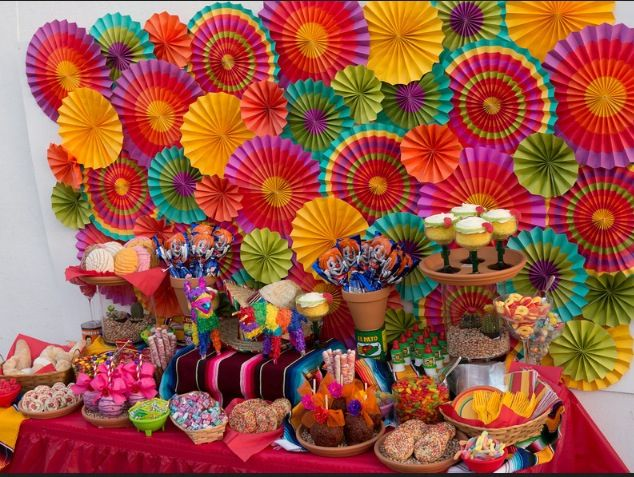 Fiesta dessert table by sweet rubia party deko for Mexikanische dekoration