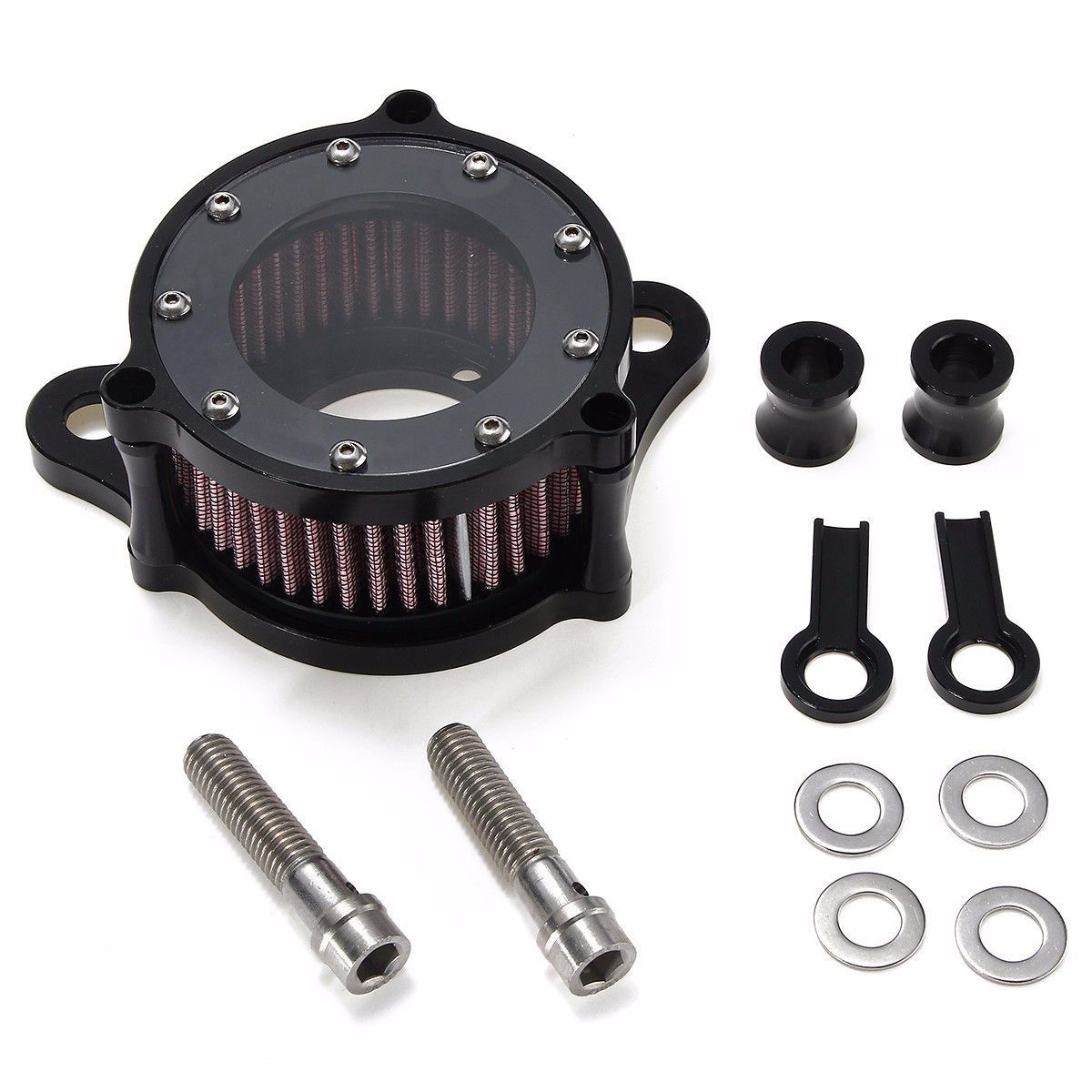 Motorcycle Air Cleaner Intake Filter System Kit For Harley