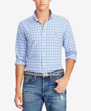 ac1bc775fc908 Polo Ralph Lauren Men s Slim Fit Stretch Oxford Shirt - Cabana blue XS