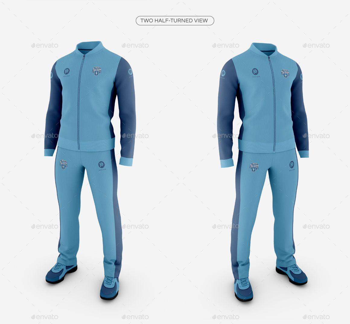 Download Men S Tracksuit Baseball Collar Mockup Tracksuit Track Suit Men Sportswear