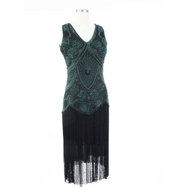 Little Black Party Dress with Beaded Fringe