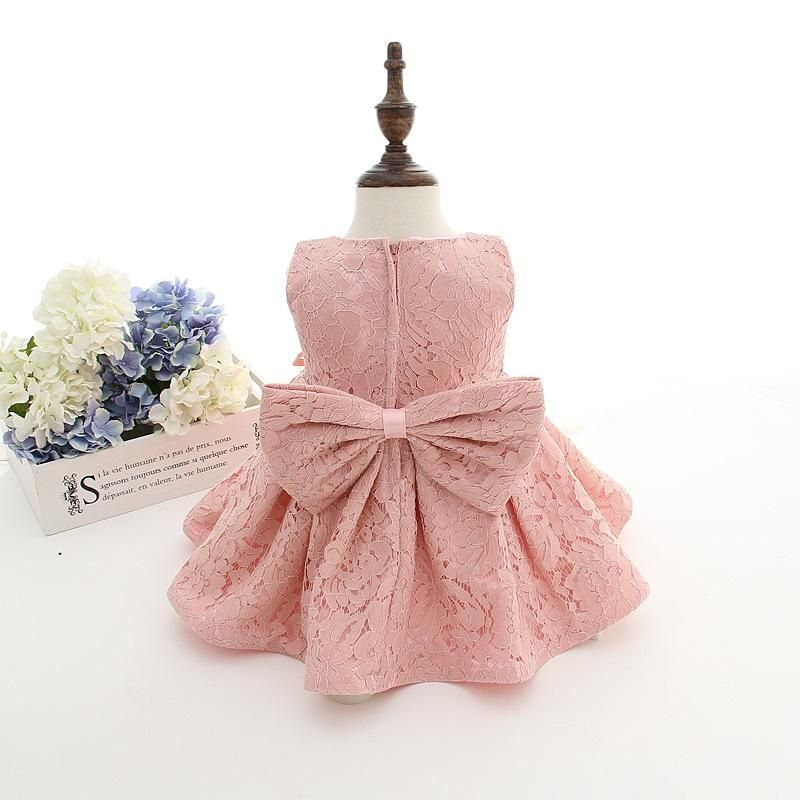 eb943154d 2019 2016 New Summer Baby Girl Baptism Dress With Hat Gown Ball Pink ...