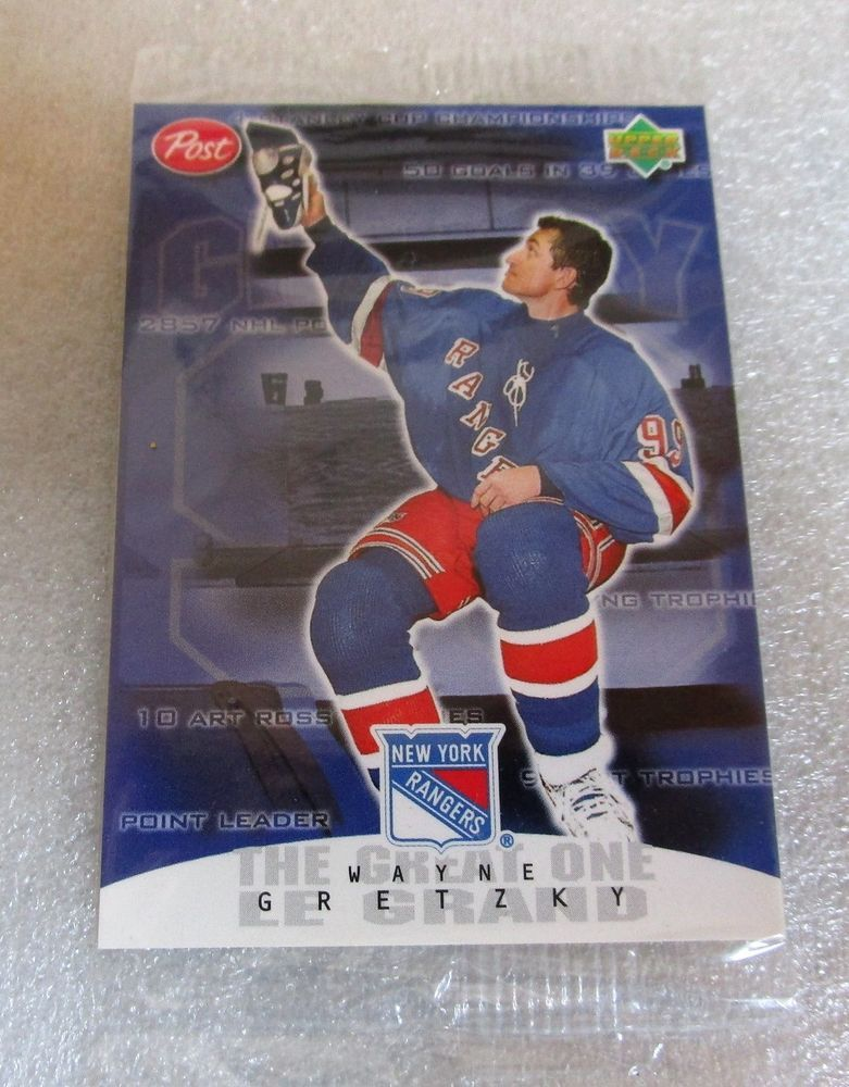 Sealed 1999 Wayne Gretzky Card Hof 7 Post Cereal Hockey 99 Retires Ny Ranger Newyorkrangers Sports Cards Cards Sports Collectibles