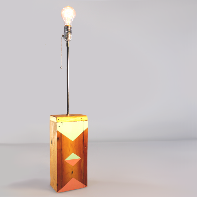 Geometric Painted Wooden Lamp Base Diy Blog By I Like That Lamp