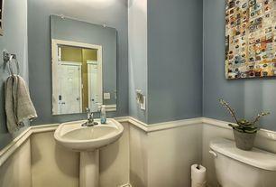 Traditional Powder Room With Pedestal Sink Cadet 24 Pedestal