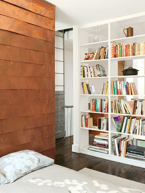 copper feature wall