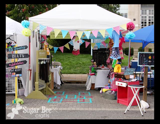 craft fair booth set up and tips ディスプレイ と レシピ
