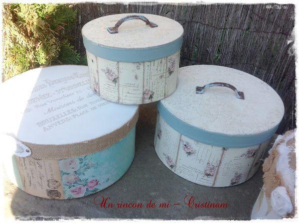 Cajas cajas cajas cajas de cart n decoradas estilo vintage decoupage stenciling and scrap - Cajas carton decoradas ...