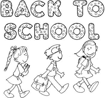 Super cute huge back to school poster that kids can color for Student coloring page
