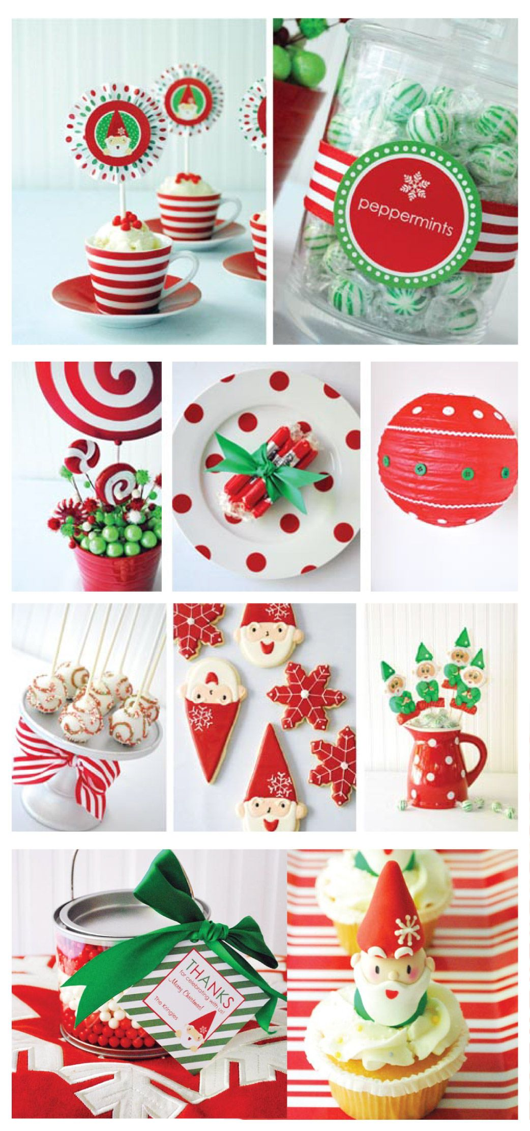 christmas elf party dessert table candy bar