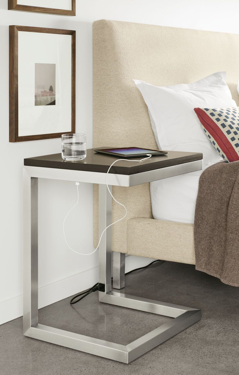 Portica C-Table with Power and USB Outlets - Modern End Tables - Modern  Living Room Furniture - Room & Board