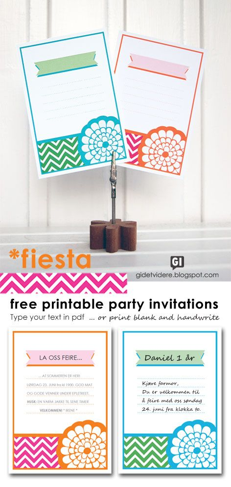 Gi Det Videre Pay It Forward Fiesta Invitasjonskort Free Printable Invitations Free Printable Party Invitations Printable Invitations