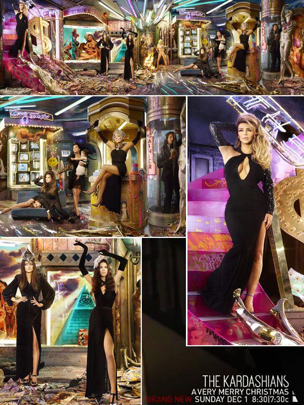 Kim Kardashian Flaunts Cleavage In Kardashian Christmas Card 2013 ...