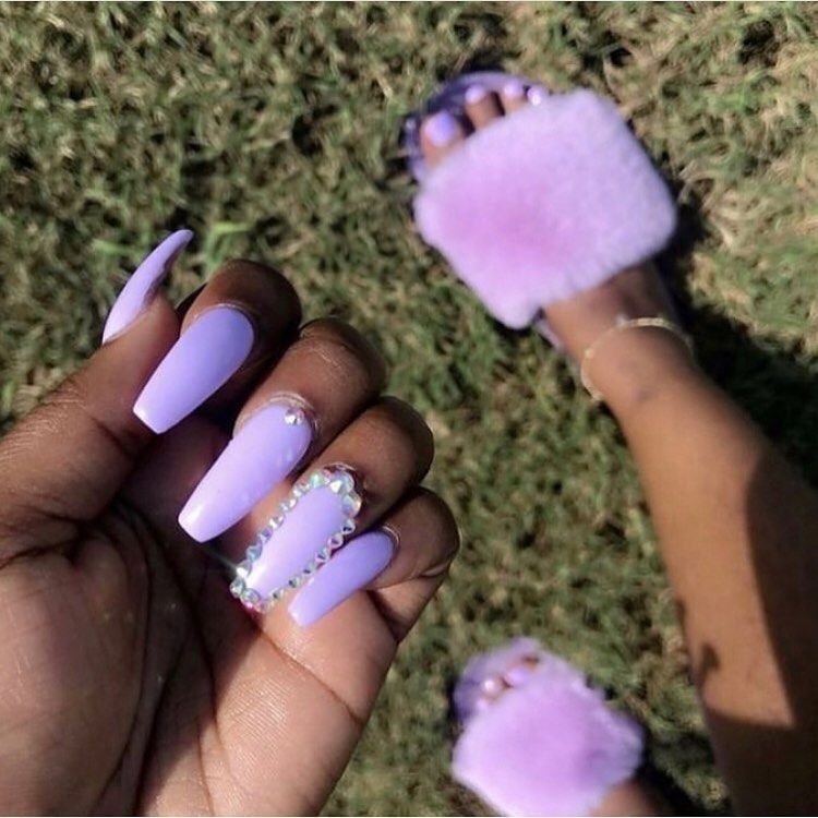 On Instagram Pc Unknown Follow Dreapostedthat For More Fw My Spam Stonecold Dreaa Purple Acrylic Nails Purple Nails Long Acrylic Nails