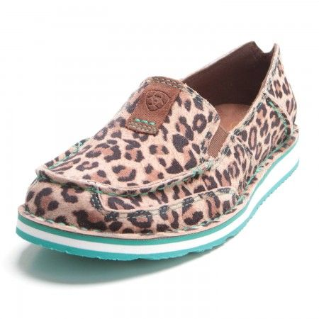 837dc24d6f059 Ariat Womens Suede Cheetah Cruiser Slip On Shoes in 2019