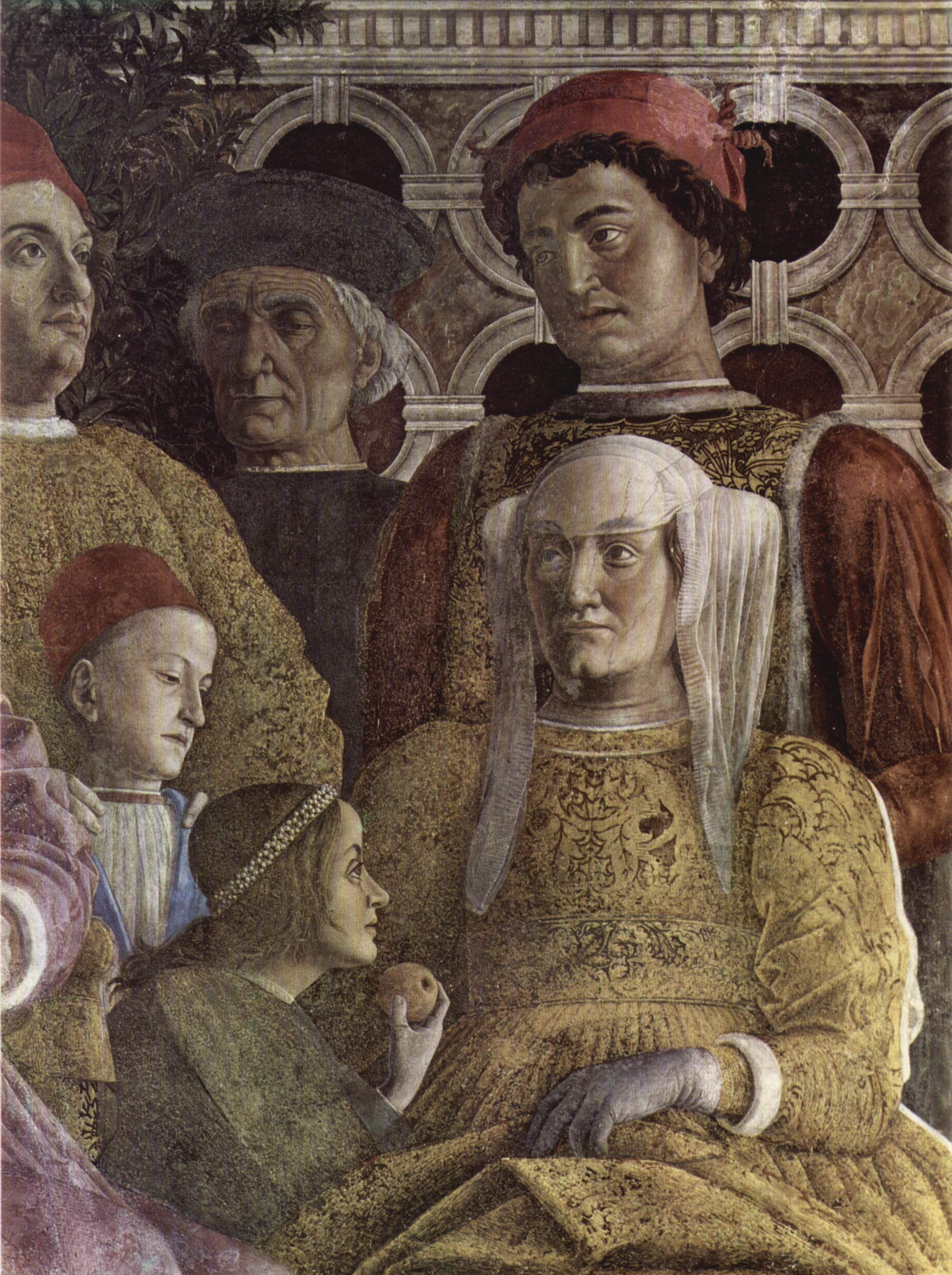 Andrea mantegna camera degli sposi 1465 1474 ciclo di for La corte dei gonzaga mantegna