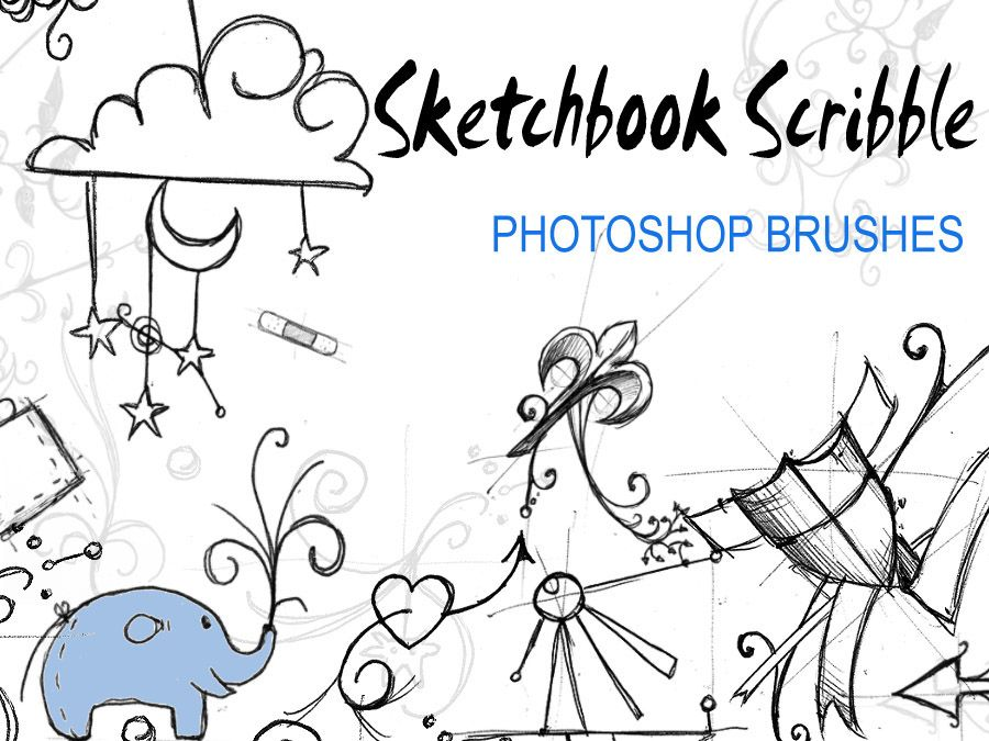 Download nice doodle and sketch brushes Sketch
