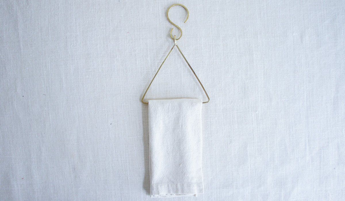 Brass Towel Hook: Triangle – Spartan Shop