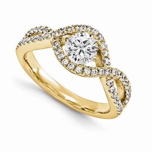 14KY VS Diamond Semi-mount Engagement Ring