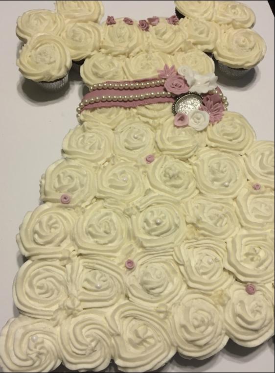 communion dress cupcake cake - Google Search | Communion cakes ...