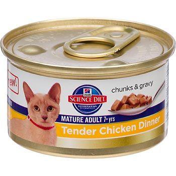 Chicken Dinner Science diet cat food, Hills science diet