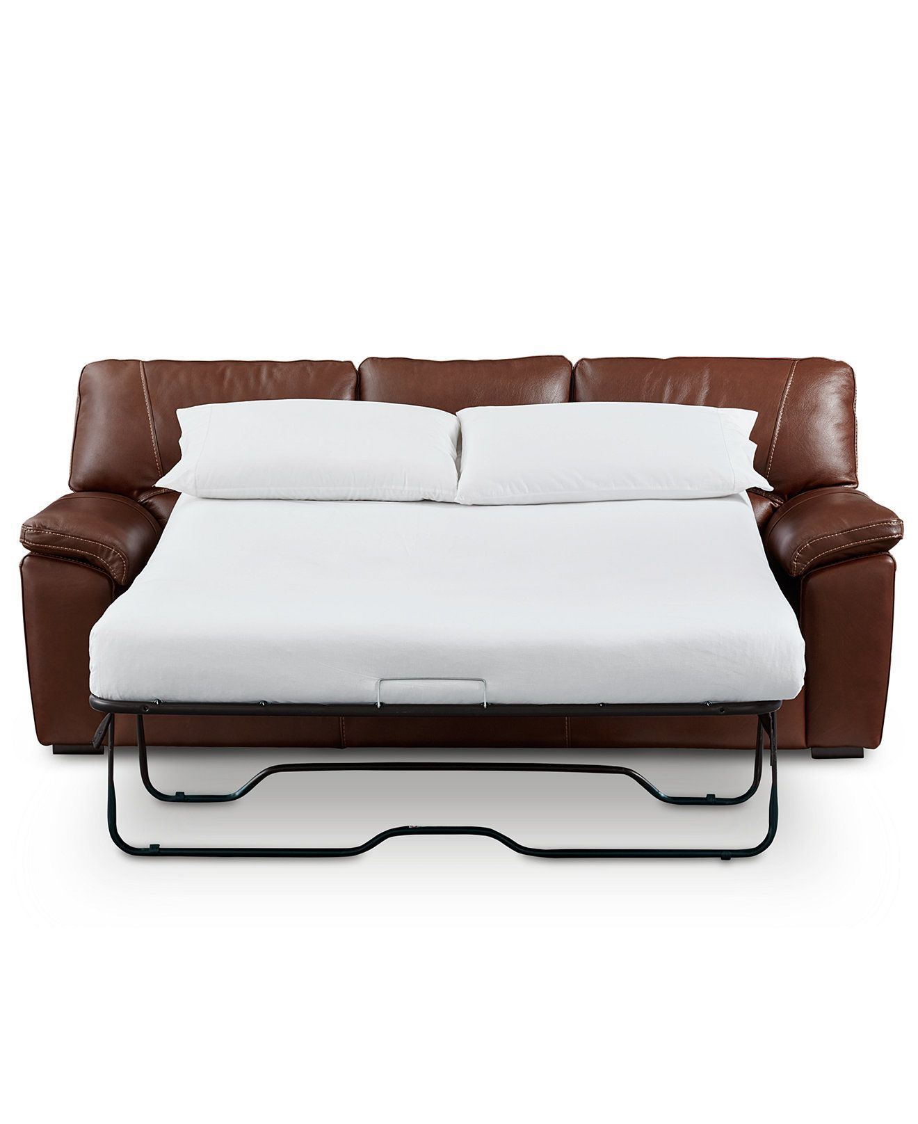 Bolivar Leather Queen Sleeper Sofa Only At Macy S Couches