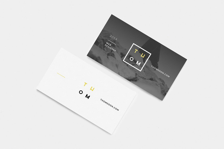 Clean Business Card Free Mockup | Business Cards Design | Pinterest ...