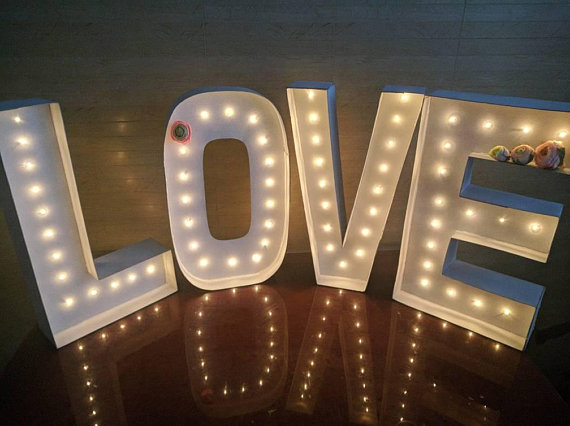 32 light up letter lights wedding light up love marquee letter bulbs cardboard letters large
