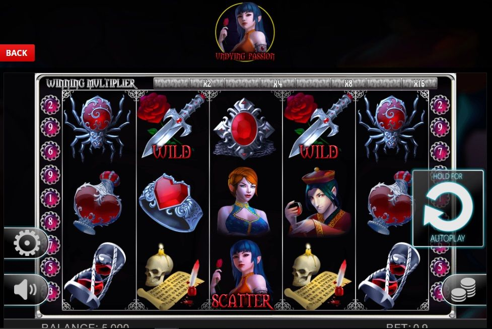 game passion casino online of