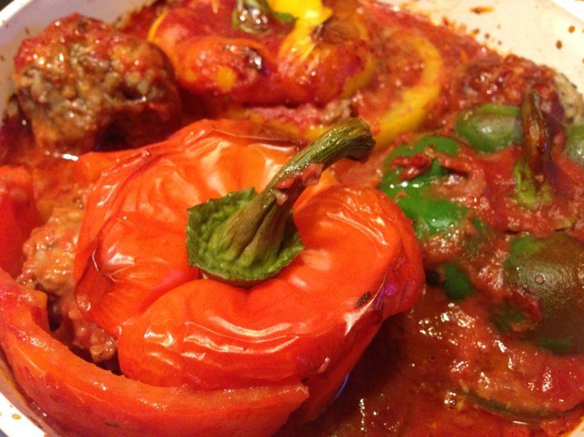 Kochrezepte gefullte paprika hackfleisch