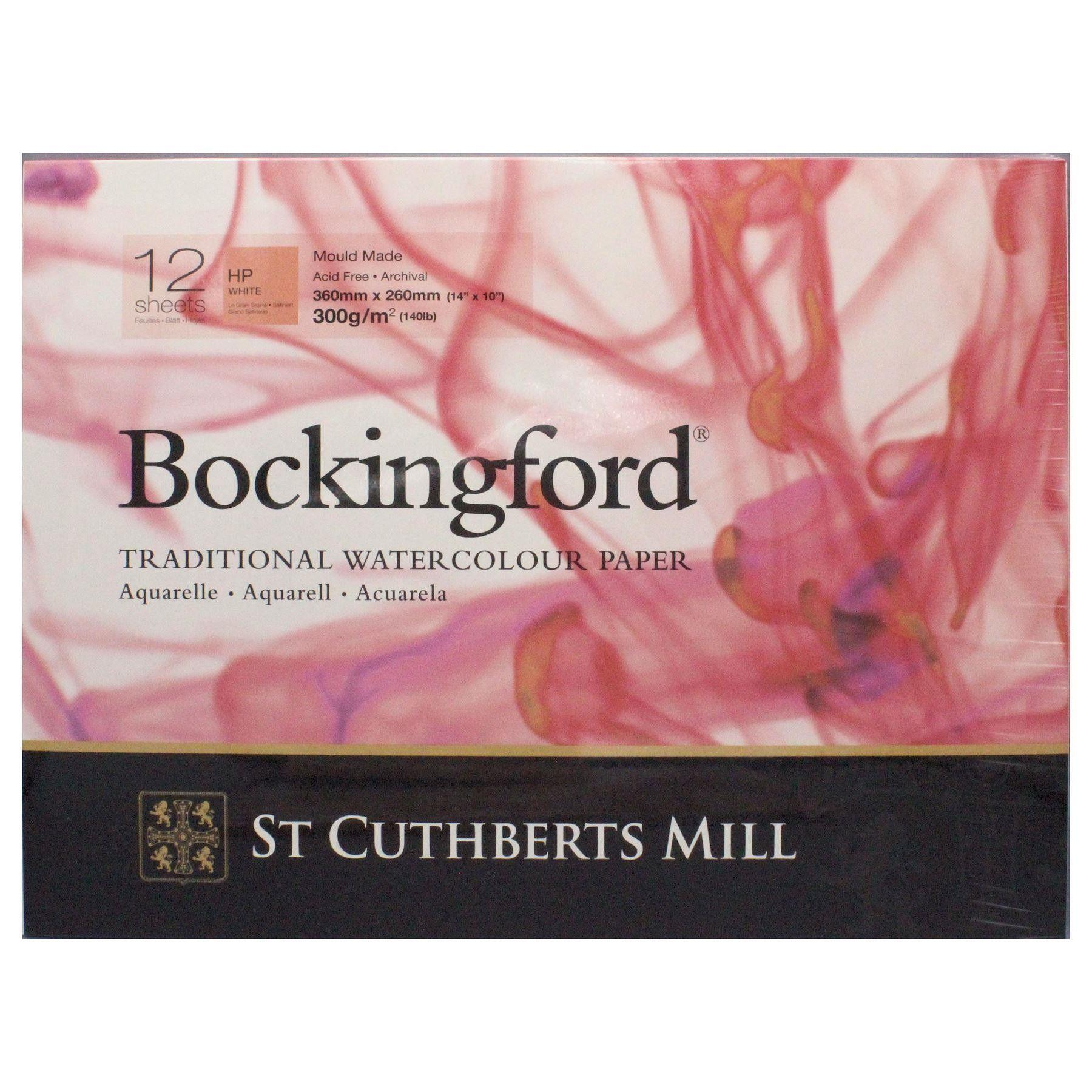 Bockingford Watercolour Pad Gummed Paper 12 Sheets 14 X 10 Hot