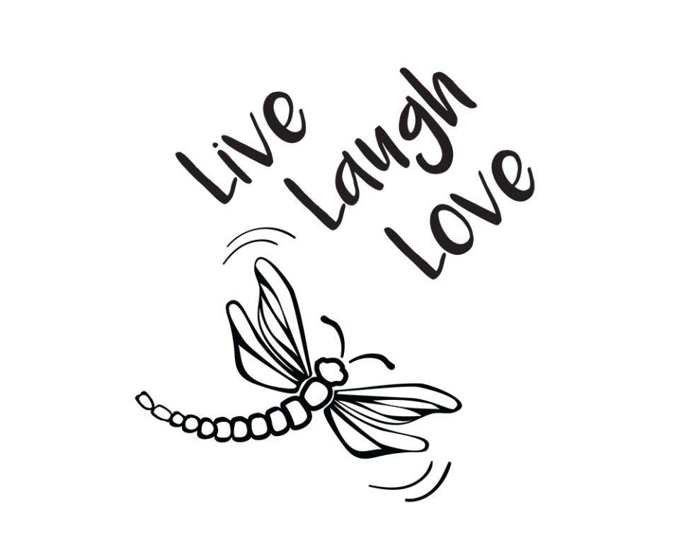 Download Free SVG File~Live Laugh Love Dragonfly in 2020   Svg free ...