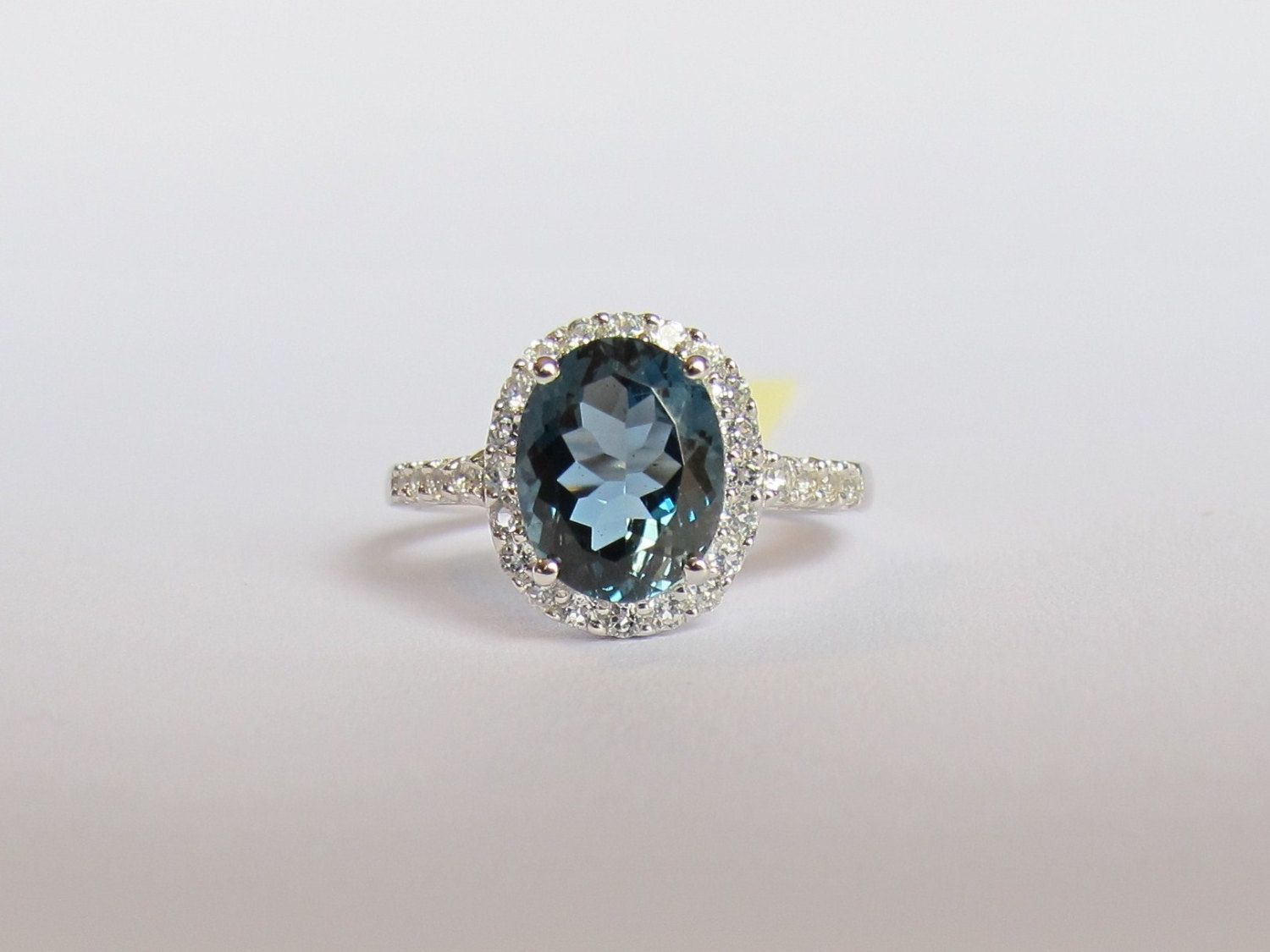London Blue Topaz and White Topaz 925 Sterling by dresssalad, $70.00