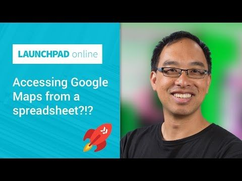 Accessing Google Maps from a spreadsheet?!? - YouTube